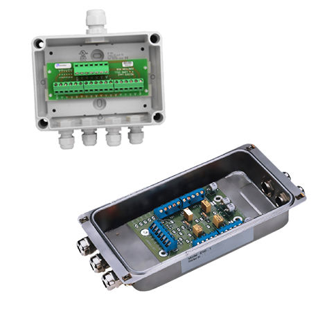 surface mounted junction box / stainless steel / polycarbonate / for load cells
