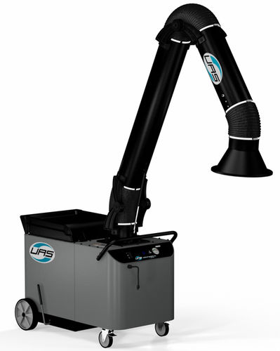 mobile fume extractor / wall-mounted / welding / with self-cleaning filter