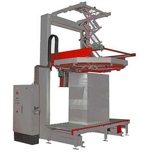 rotary ring stretch wrapper / fully automatic / pallet