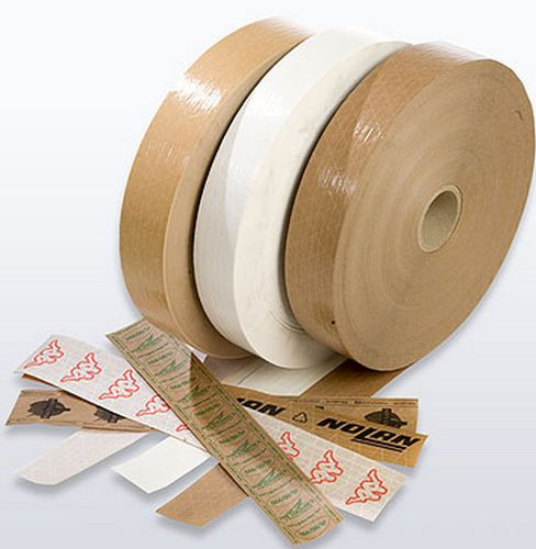 silicone paper adhesive tape / for logistics / reinforced / gummed
