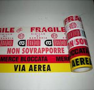 acrylic adhesive tape / polyethylene / PVC / for logistics