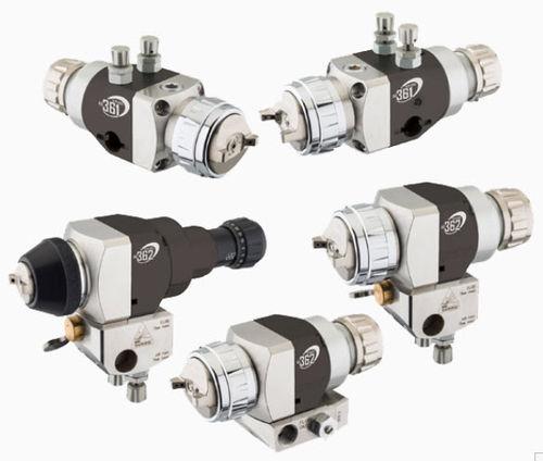 spray gun / automatic / compact / HVLP