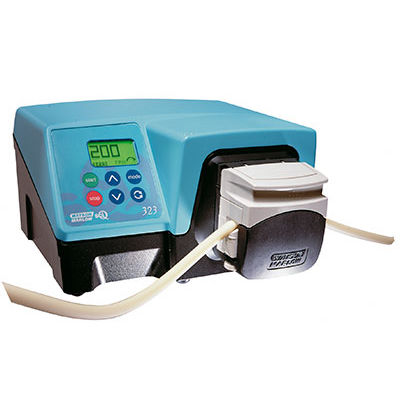 chemical pump / with DC motor / peristaltic / laboratory