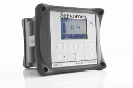 Oxygen analyzer / carbon dioxide / carbon monoxide / gas Micro i.s. 5100 SERVOMEX