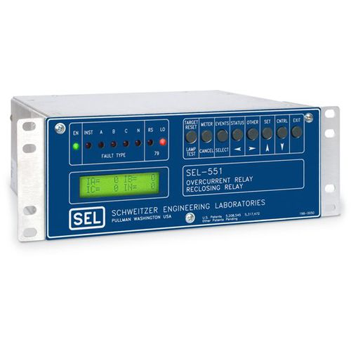 Over-current protection relay / digital / configurable / adjustable SEL-551 Schweitzer Engineering Laboratories