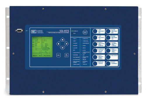 Phase protection relay / three-phase / panel-mount / programmable SEL-487E Schweitzer Engineering Laboratories
