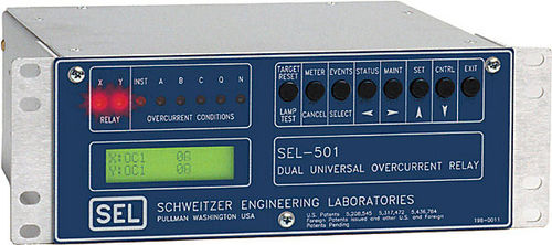 Over-current protection relay / programmable / configurable / three-phase SEL-501 Schweitzer Engineering Laboratories