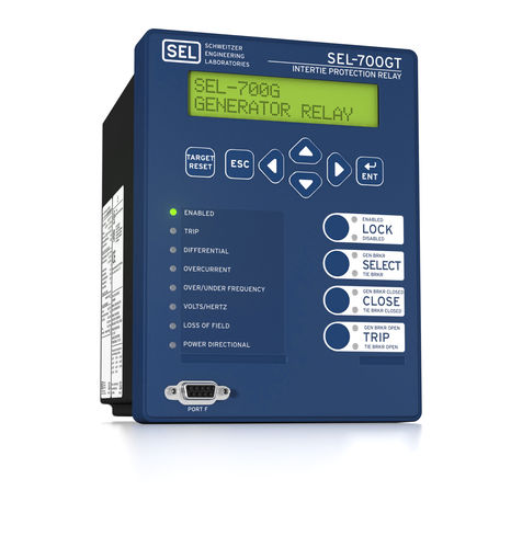 Synchronization protection relay / panel-mount / digital / programmable SEL-700GT Schweitzer Engineering Laboratories