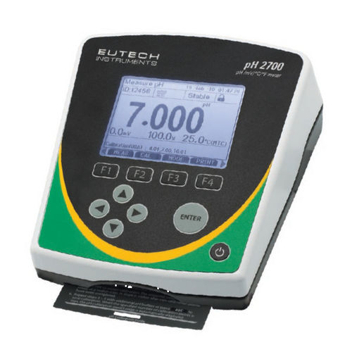 bench-top pH meter / process / with LCD display / with thermometer