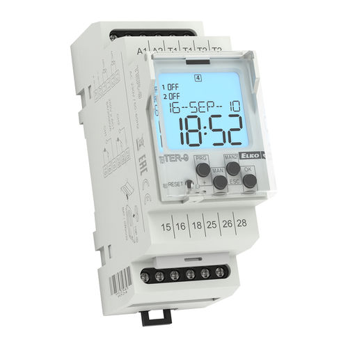 adjustable thermostat / electronic / digital / for heating and cooling