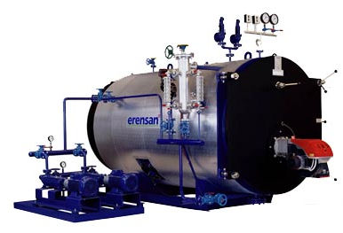 Superheated steam boiler / gas / fire tube / horizontal STEAMPACK series Erensan