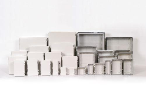 wall-mount enclosure / rectangular / ABS / polycarbonate