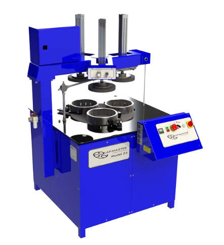 diamond lapping machine / with pneumatic lifting system / for hard materials