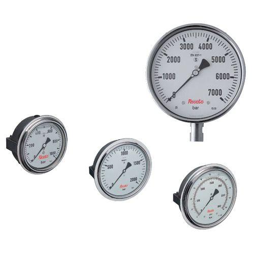 dial pressure gauge / Bourdon tube / stainless steel / high-pressure