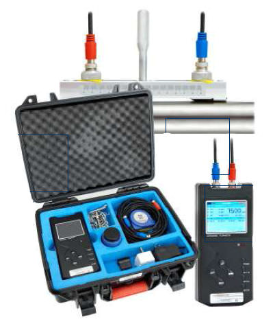 ultrasonic transit-time flow meter / for water / for chemicals / for wastewater