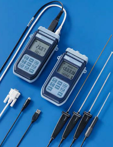 Pt1000 thermometer / digital / portable / industrial