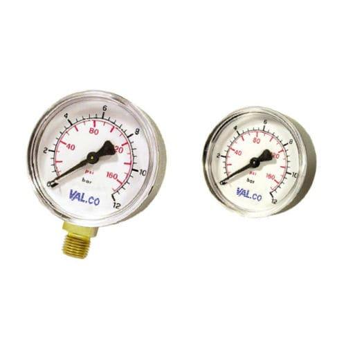analog pressure gauge / Bourdon tube / process / for gas