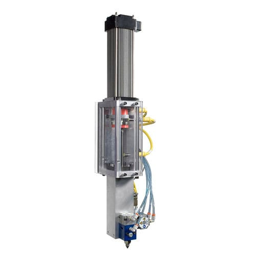 adhesive dispensing system / for the automotive industry / proportional / robotic