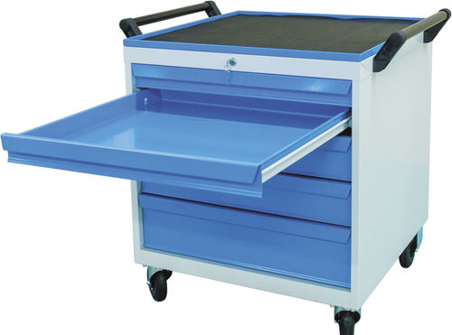 storage cabinet / free-standing / with drawer / steel