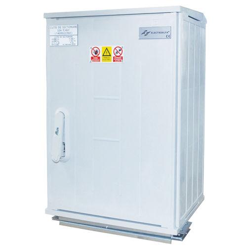 electrical distribution cabinet / electric metering / free-standing / hinged door