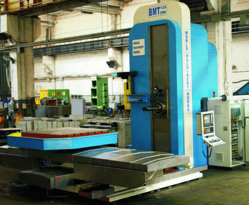 CNC boring mill / horizontal / 4-axis / rotating table