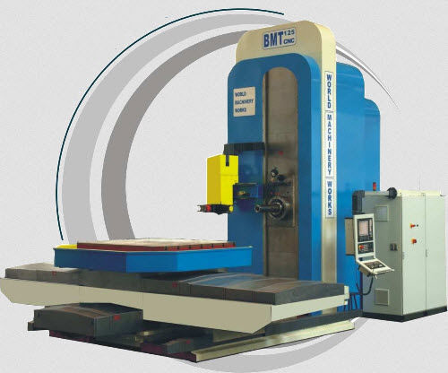 CNC boring mill / 4-axis / horizontal / with rotating table 2500 x 1950 x 1800 mm | BMT 125 CNC WMW Machinery