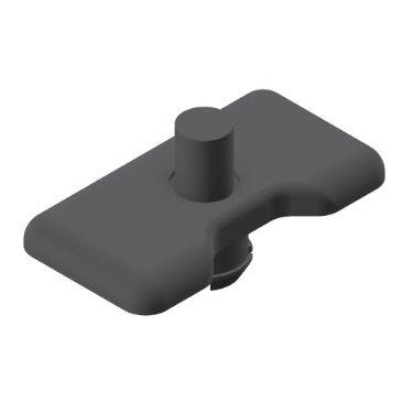 non-threaded end cap / rectangular / ABS / for profile ends