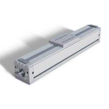 ball screw linear module / guided / aluminum profile / 1-axis