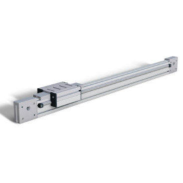slide linear guide / steel / square rail