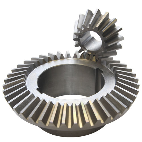 bevel gear / straight-toothed / custom / hub