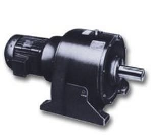 single-phase electric gearmotor / coaxial / helical