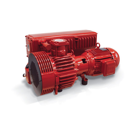rotary vane vacuum pump / oil-filled / single-stage / compact