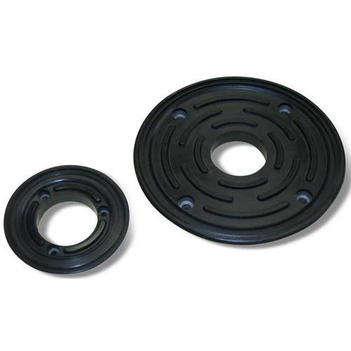 flat suction cup / circular / rubber / for marble and glass clamping