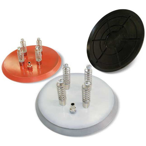 flat suction cup / circular / handling / for heavy-duty applications