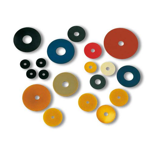 round suction cup / for cardboard boxes / rubber / plastic