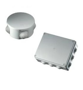 wall-mounted junction box / fire-resistant / plastic / with elastic membranes
