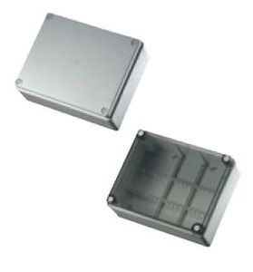 wall-mounted junction box / halogen-free / plastic / with transparent cover