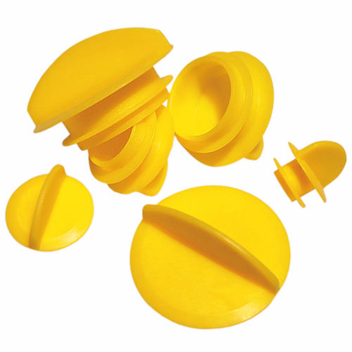 finned plug / non-threaded / low-density polyethylene (LDPE) / snap-on