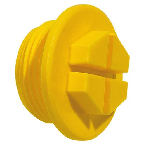 hexagonal plug / threaded / nylon / protection