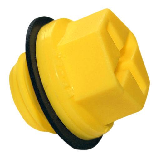 hexagonal plug / threaded / nylon / leak-proofing