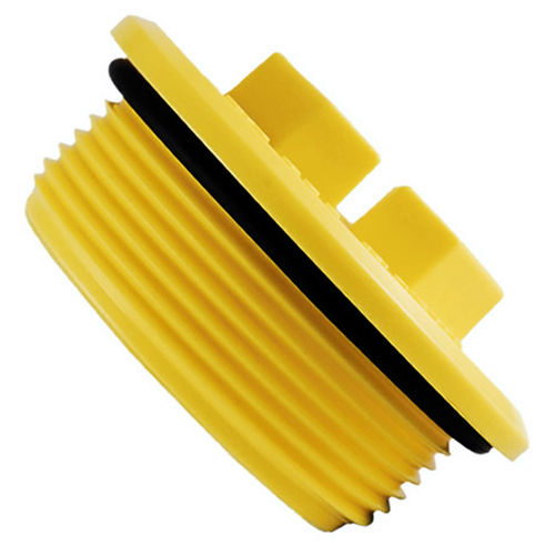 toroidal plug / threaded / nylon / drain