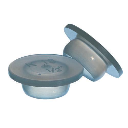 round plug / male / low-density polyethylene (LDPE) / flat-head