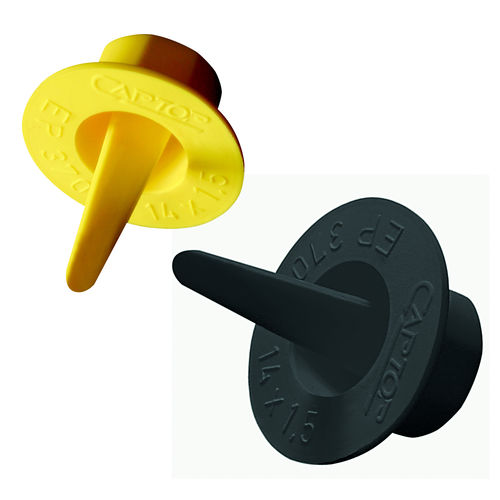 conical plug / non-threaded / thermoplastic / rubber