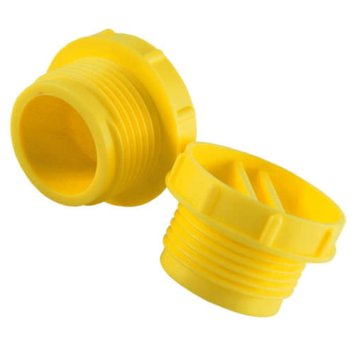 round plug / threaded / HDPE / protection