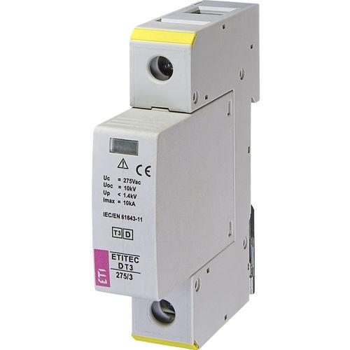 type 3 surge arrester / modular / DIN rail / single-phase