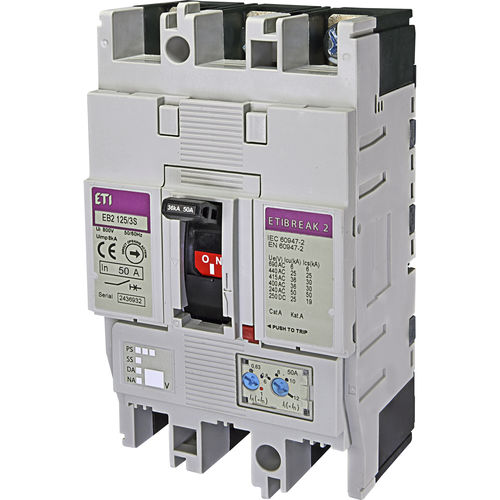 thermal-magnetic circuit breaker / short-circuit / low-voltage / adjustable