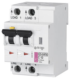 arc protection circuit breaker / thermal / 2-pole / residual current
