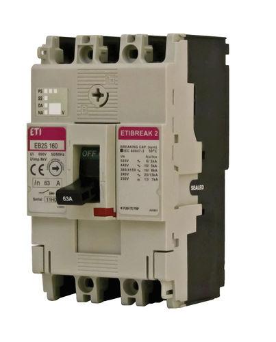 Adjustable circuit breaker / modular / molded case MCCB EB2S series ETI