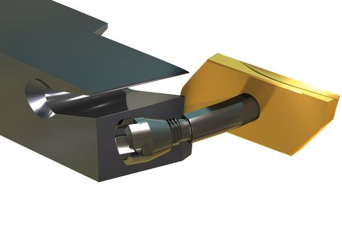 external turning tool / indexable insert / for small parts machining / precision