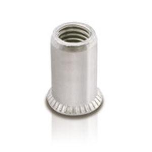 blind rivet nut / aluminum / countersunk head / threaded